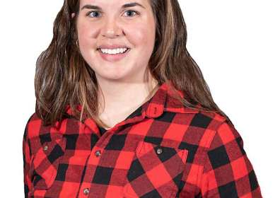 Maureen O'Callaghan, a young grower from Ephrata, Washington